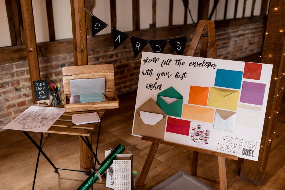 Envelope Guest Book Bonhams Barn Wedding Will Patrick Photography