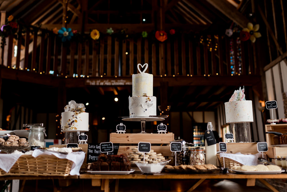 Cake Dessert Table Bonhams Barn Wedding Will Patrick Photography
