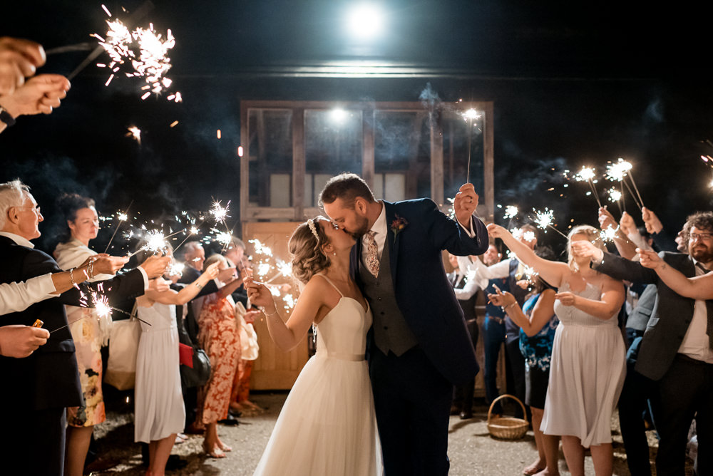 Sparklers Sparkler Exit Send Off Bonhams Barn Wedding Will Patrick Photography