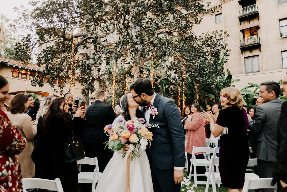 Outdoor Ceremony Flowers Fairy Lights California Wedding Wanderlust Creatives