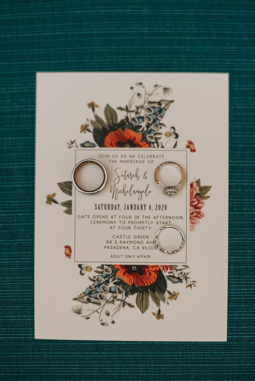 Floral Stationery Invite Invitation California Wedding Wanderlust Creatives
