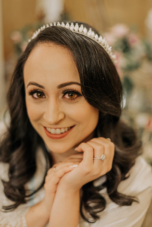 Bride Bridal Hair Make Up Crown Tiara California Wedding Wanderlust Creatives