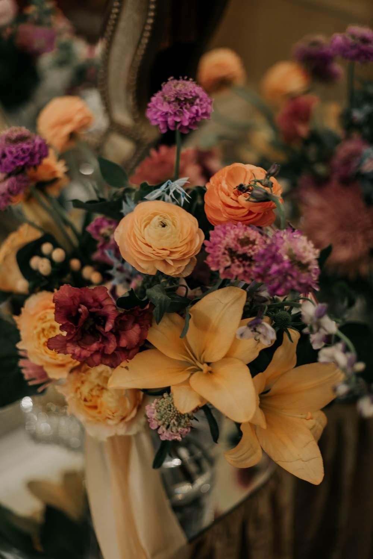 Bouquet Flowers Bride Bridal Orange Pink Lily Ranunculus California Wedding Wanderlust Creatives