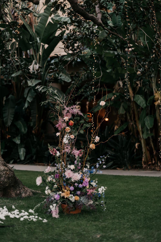 Ceremony Flowers Aisle Pink Blue Orange Wild California Wedding Wanderlust Creatives