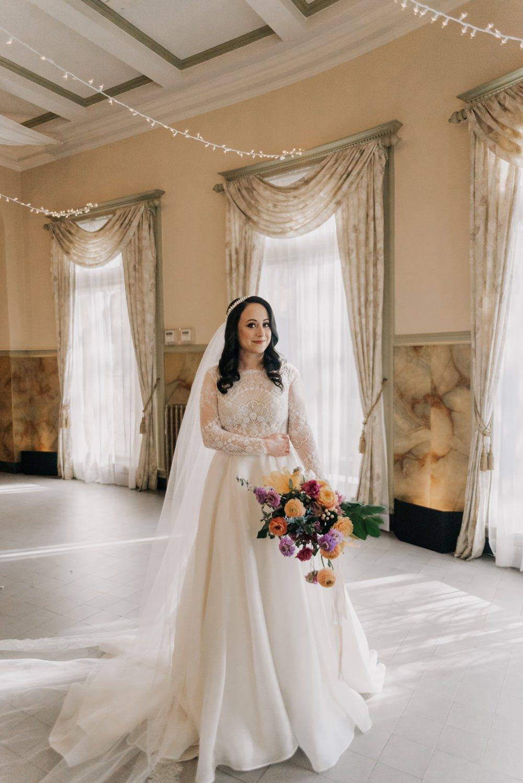 Dress Gown Bride Bridal Long Sleeves Pockets Veil California Wedding Wanderlust Creatives