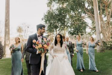 Whimsical & Romantic Wedding with an Outdoor Ceremony in California