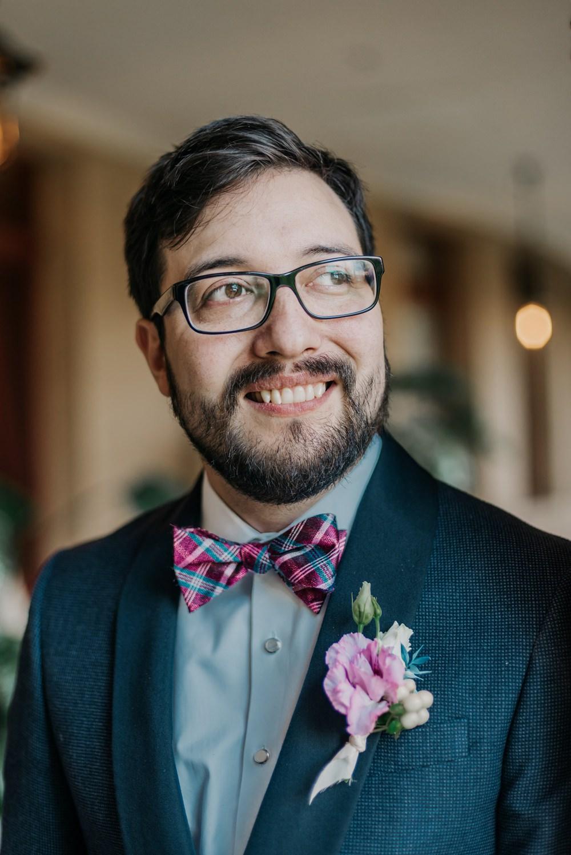 Groom Groomsmen Suit Grey Bow Tie Buttonhole California Wedding Wanderlust Creatives