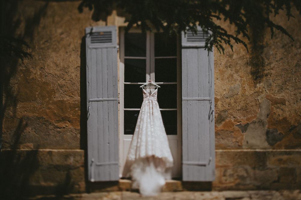 Fleur de Lis Blush by Hayley Paige Dress Gown Bride Bridal Lace Straps Chateau Lagorce Wedding Flawless Photography