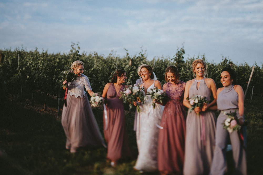 Bridesmaid Bridesmaids Dress Dresses Pink Lilac Mismatched Chateau Lagorce Wedding Flawless Photography