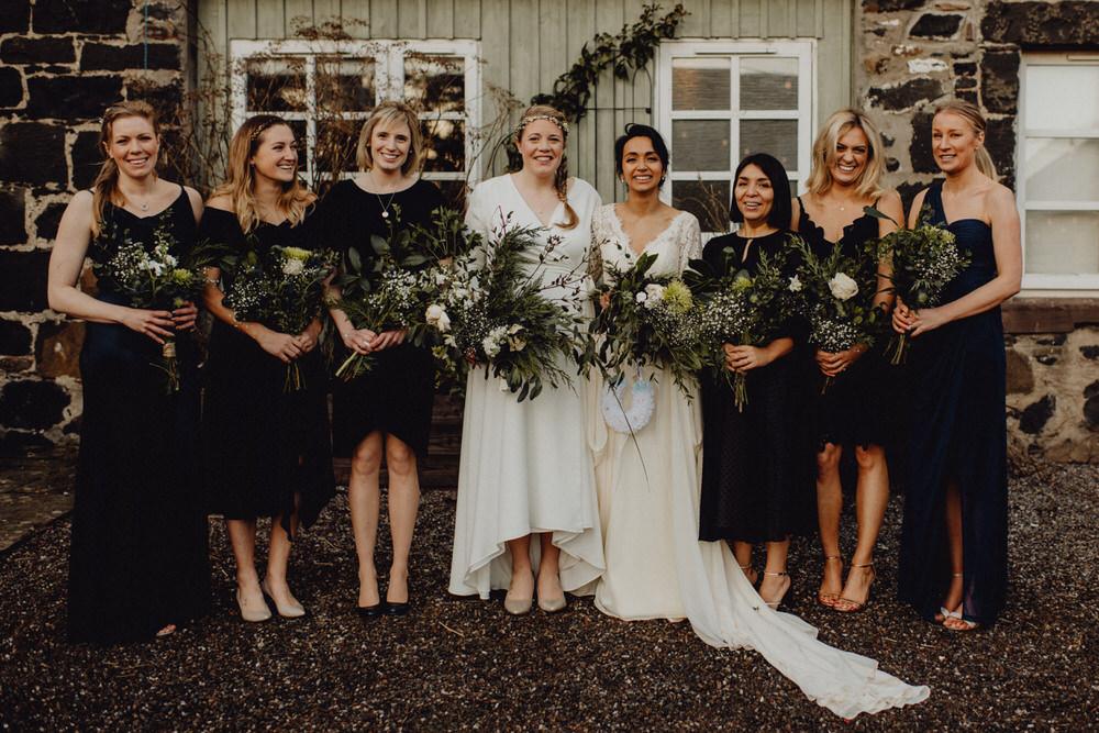 Bridesmaids Bridesmaid Dress Dresses Navy Blue Comrie Croft Wedding Neil Thomas Douglas