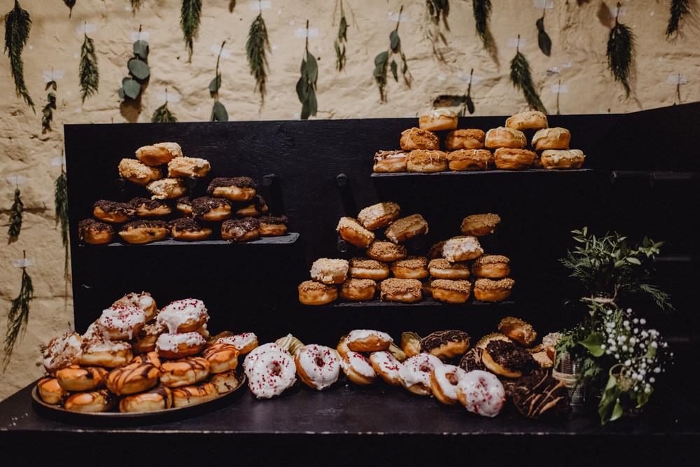 Donuts Doughnut Table Bar Comrie Croft Wedding Neil Thomas Douglas