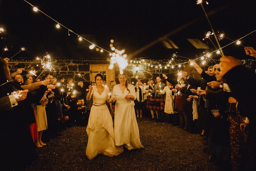 Sparklers Sparkler Exit Send Off Comrie Croft Wedding Neil Thomas Douglas