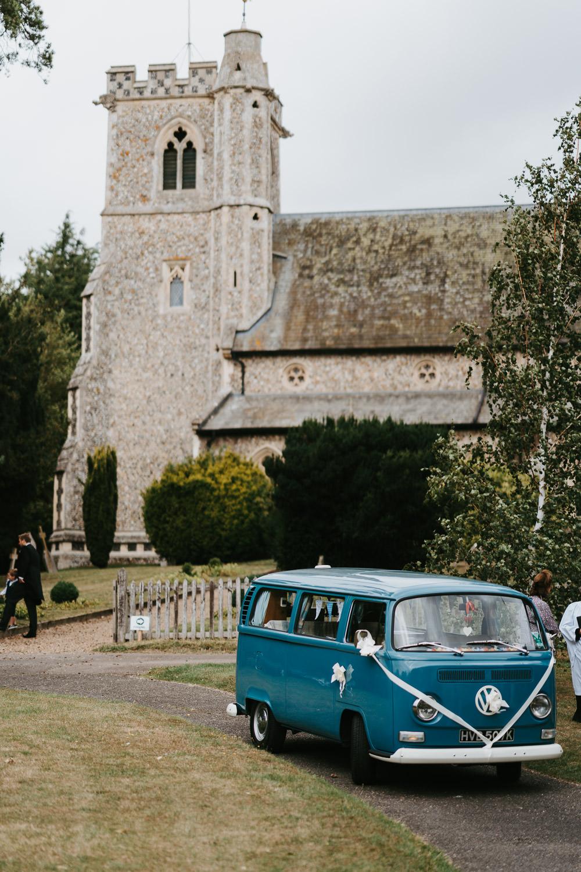VW Campervan Transport Country Festival Wedding Jonny Gouldstone Photography