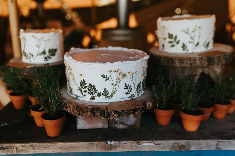 Flower Floral Cake Country Festival Wedding Jonny Gouldstone Photography