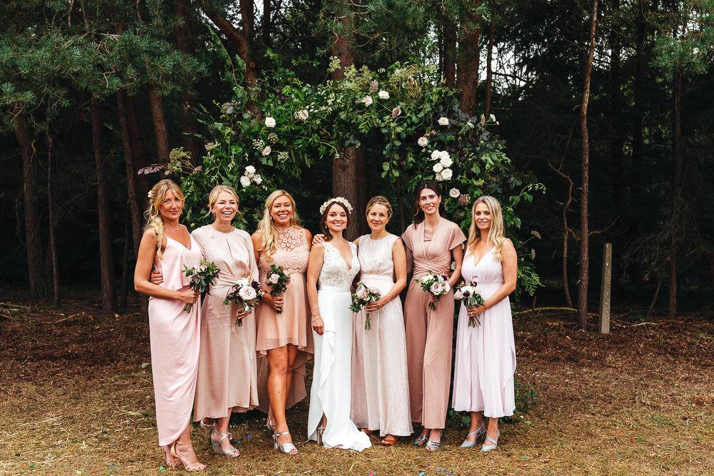 Bridesmaids Bridesmaid Dress Dresses Blush Festival Party Wedding Kirsty Mackenzie Photography
