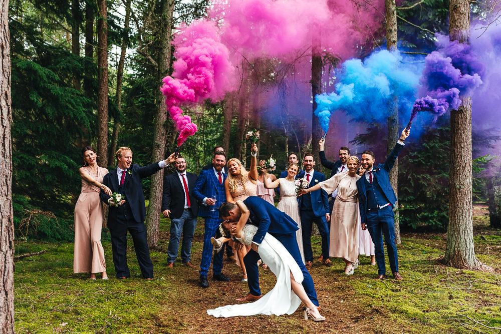 Festival Party Wedding Kirsty Mackenzie Photography Smoke Bomb Portrait Photo Photography