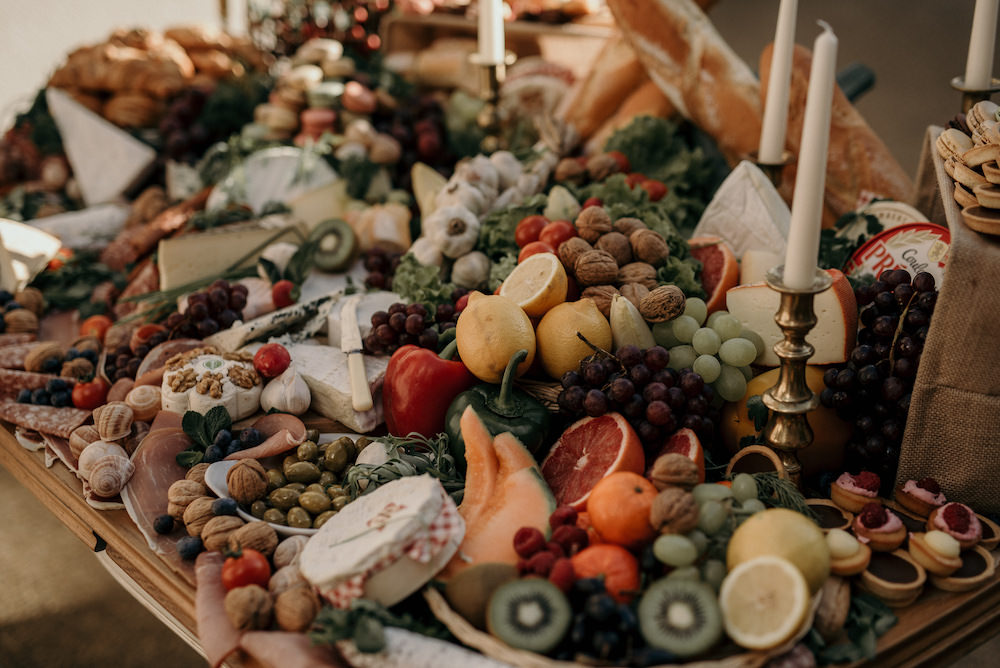 Grazing Table Food Sharing Platter France Elopement Ideas Pierra G Photography