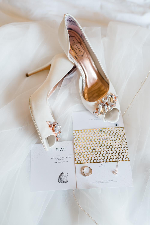 Shoes Bride Bridal Peep Toe Great Lodge Wedding Gemma Giorgio Photography