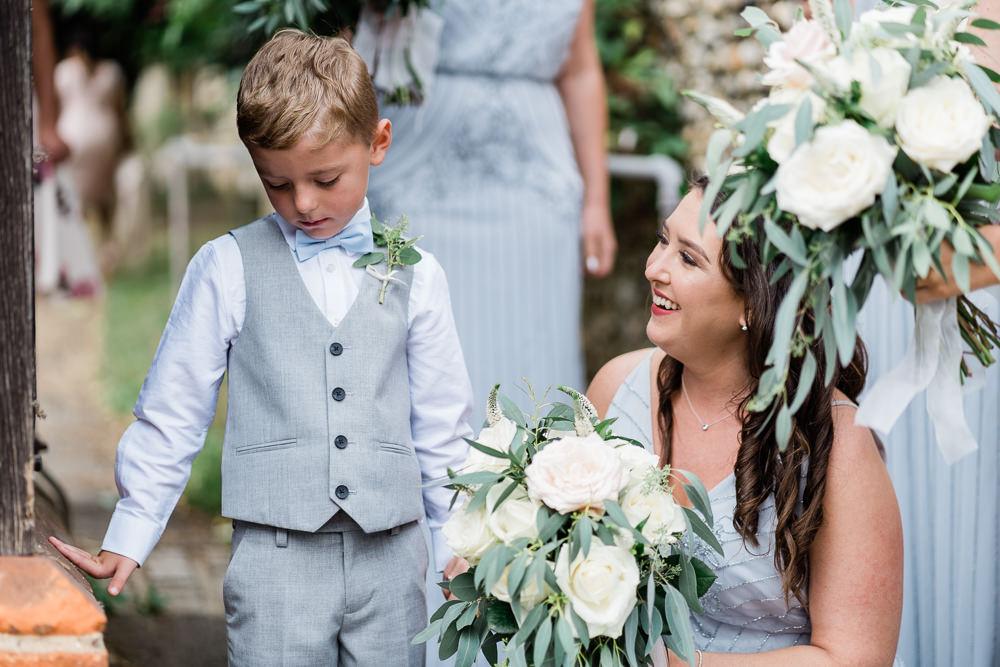 Page Boy Suit Bow Tie Great Lodge Wedding Gemma Giorgio Photography