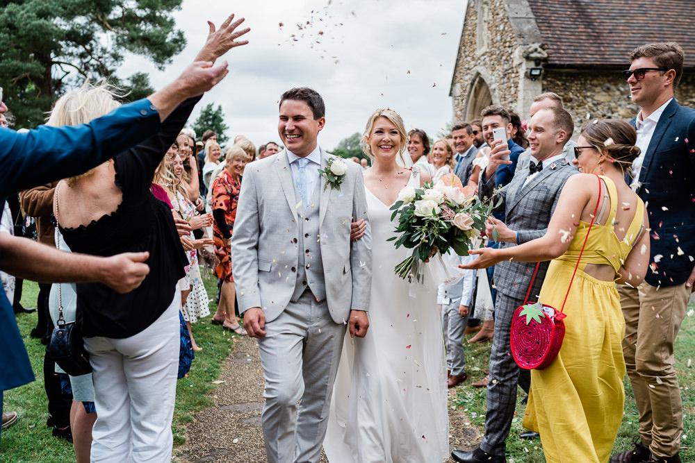 Confetti Throw Great Lodge Wedding Gemma Giorgio Photography