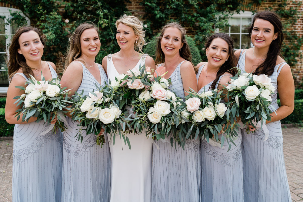 Bridesmaids Bridesmaid Dress Dresses Grey Beaded Great Lodge Wedding Gemma Giorgio Photography