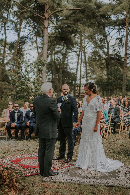 Woodland Outdoor Ceremony Happy Valley Wedding Alice Cunliffe Photography
