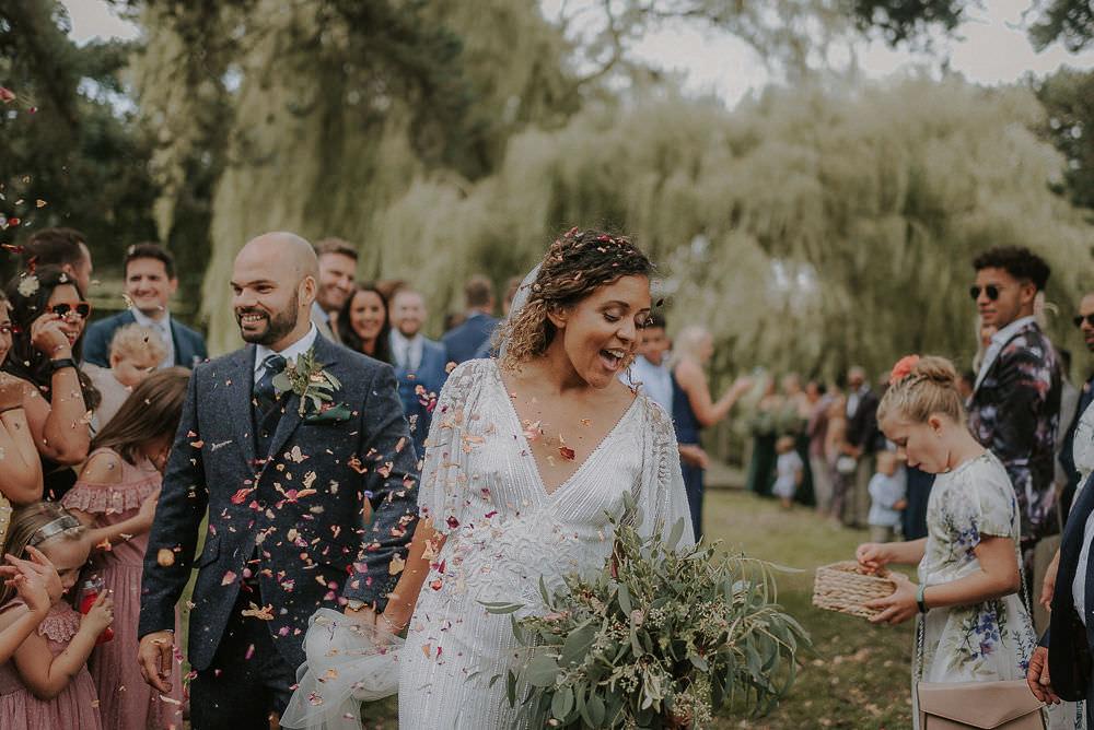 Confetti Throw Happy Valley Wedding Alice Cunliffe Photography