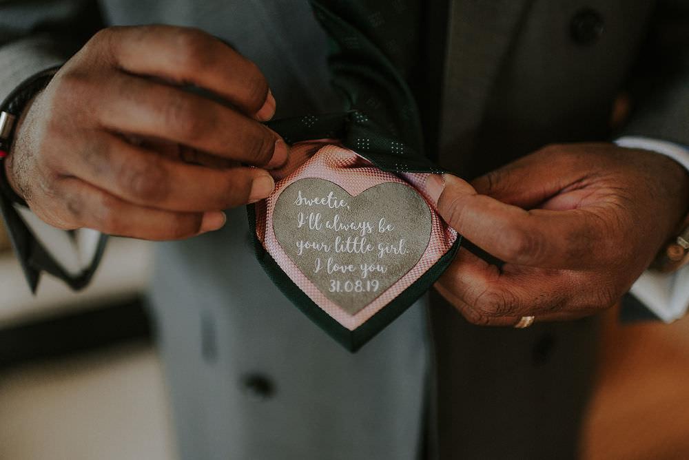 Tie Label Happy Valley Wedding Alice Cunliffe Photography