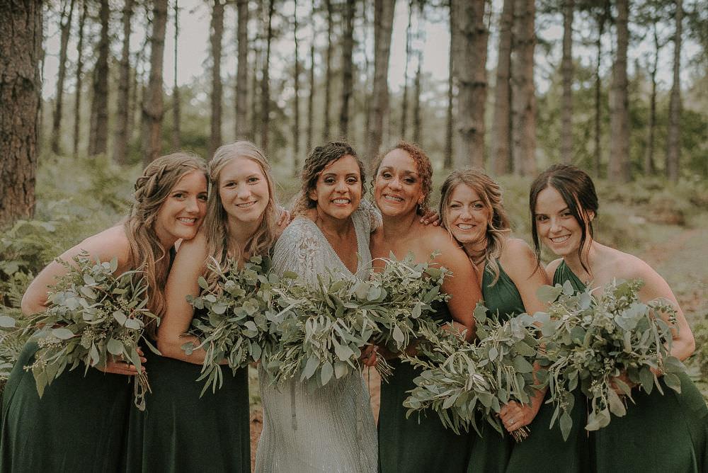 Bridesmaids Bridesmaid Dress Dresses Green Multiway Happy Valley Wedding Alice Cunliffe Photography