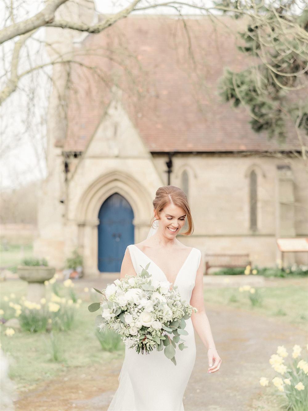 Dress Gown Bride Bridal Pronovias Straps Lockdown Wedding Carn Patrick Photography