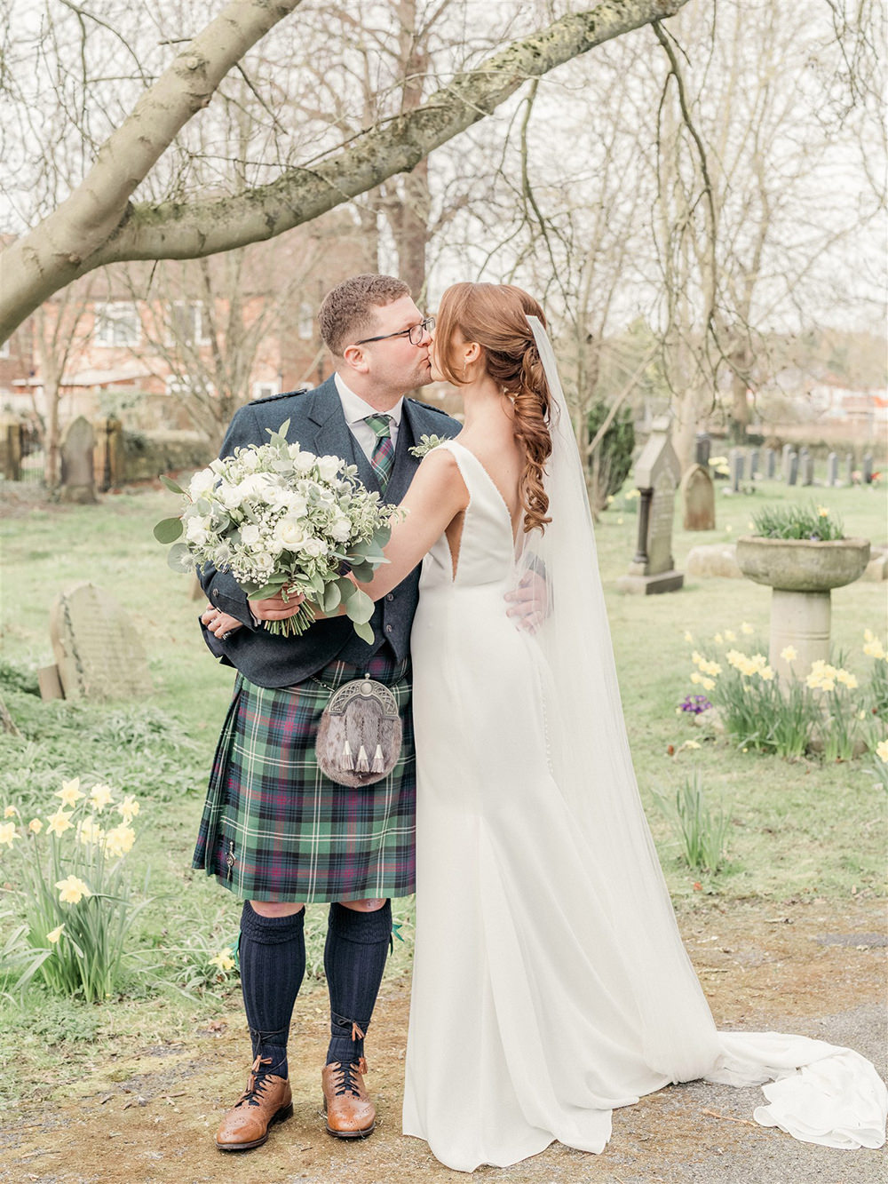 Lockdown Wedding Carn Patrick Photography Dress Gown Bride Bridal Pronovias Straps