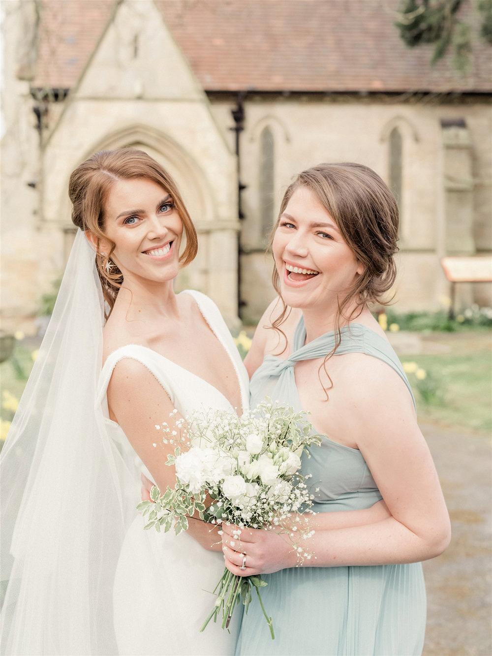 Bridesmaid Dress Sage Green Lockdown Wedding Carn Patrick Photography