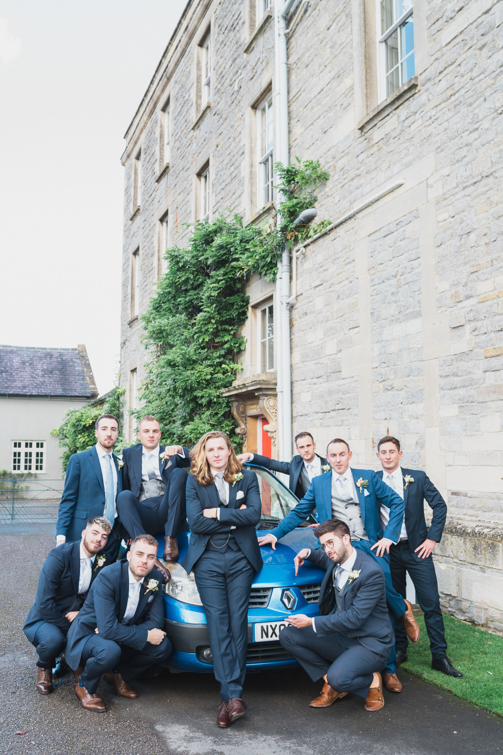 Groomsmen Suits Modern Romantic Wedding Red Maple Photography