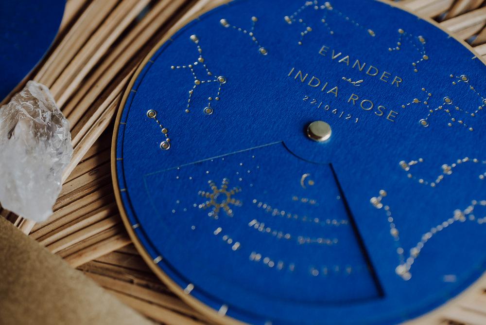 Stationery Invite Invitations Celestial Modern Navy Gold Wedding Ideas Gina Fernandes Photography