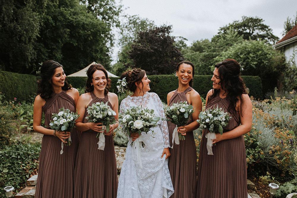 Bridesmaids Bridesmaid Dress Dresses Mink Preston Priory Barn Wedding Leah Lombardi Photography