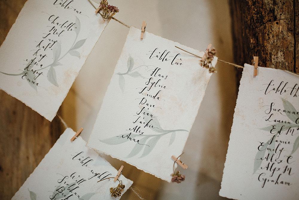 Table Plan Seating Chart Twine Pegs Preston Priory Barn Wedding Leah Lombardi Photography