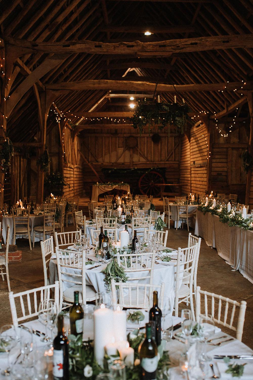 Fairy Lights Decor Reception Preston Priory Barn Wedding Leah Lombardi Photography