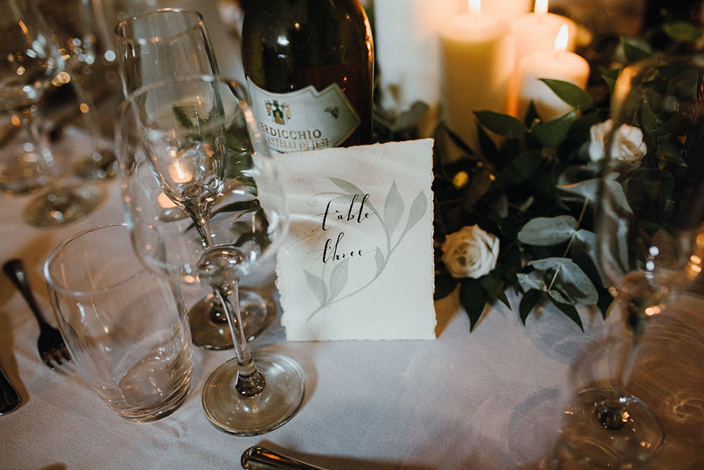 Table Number Preston Priory Barn Wedding Leah Lombardi Photography