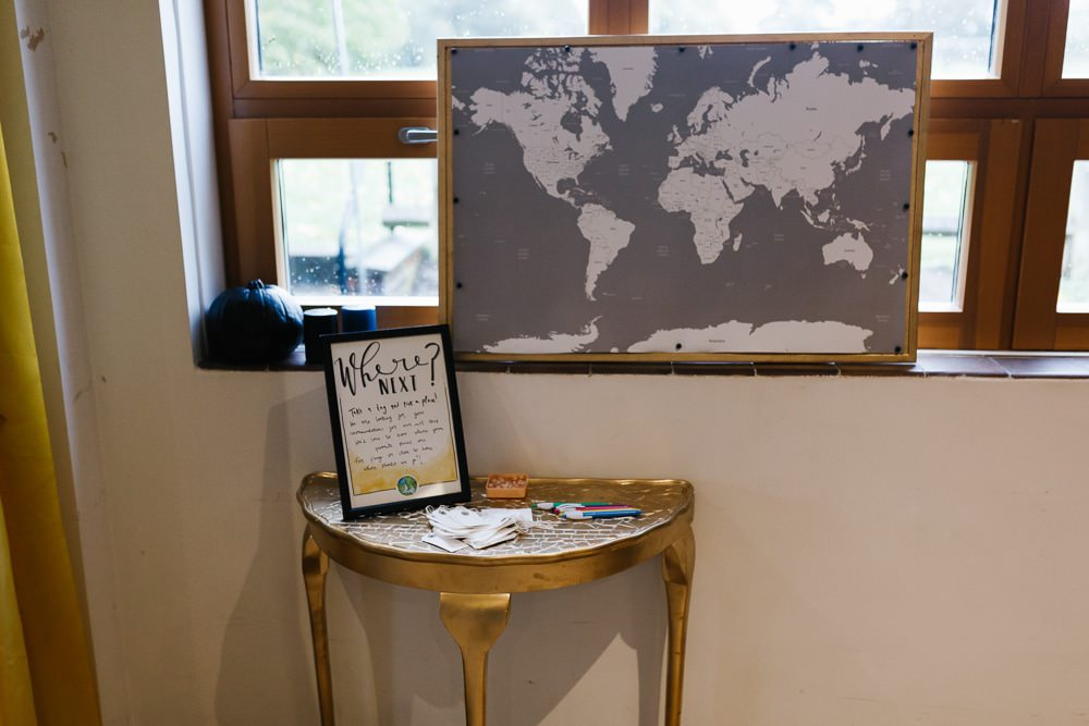 Map Travel Guest Book Village Hall Wedding Emily + Katy Photography