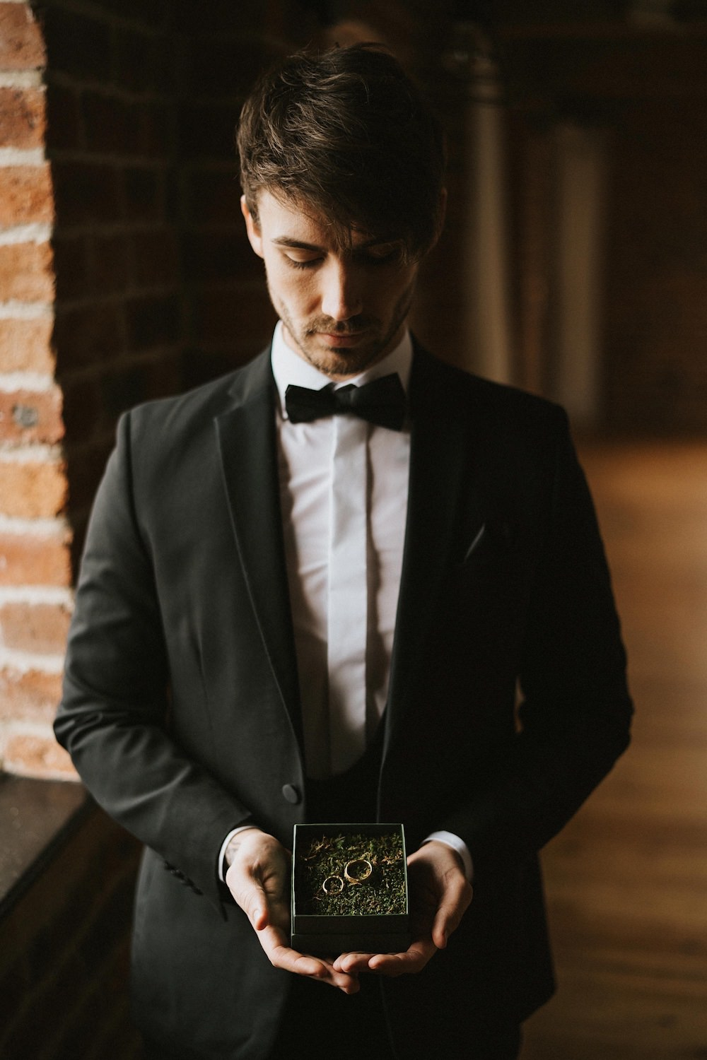 Groom Suit Tux Bow Tie Ballet Wedding Ideas Henry Lowther Photographer