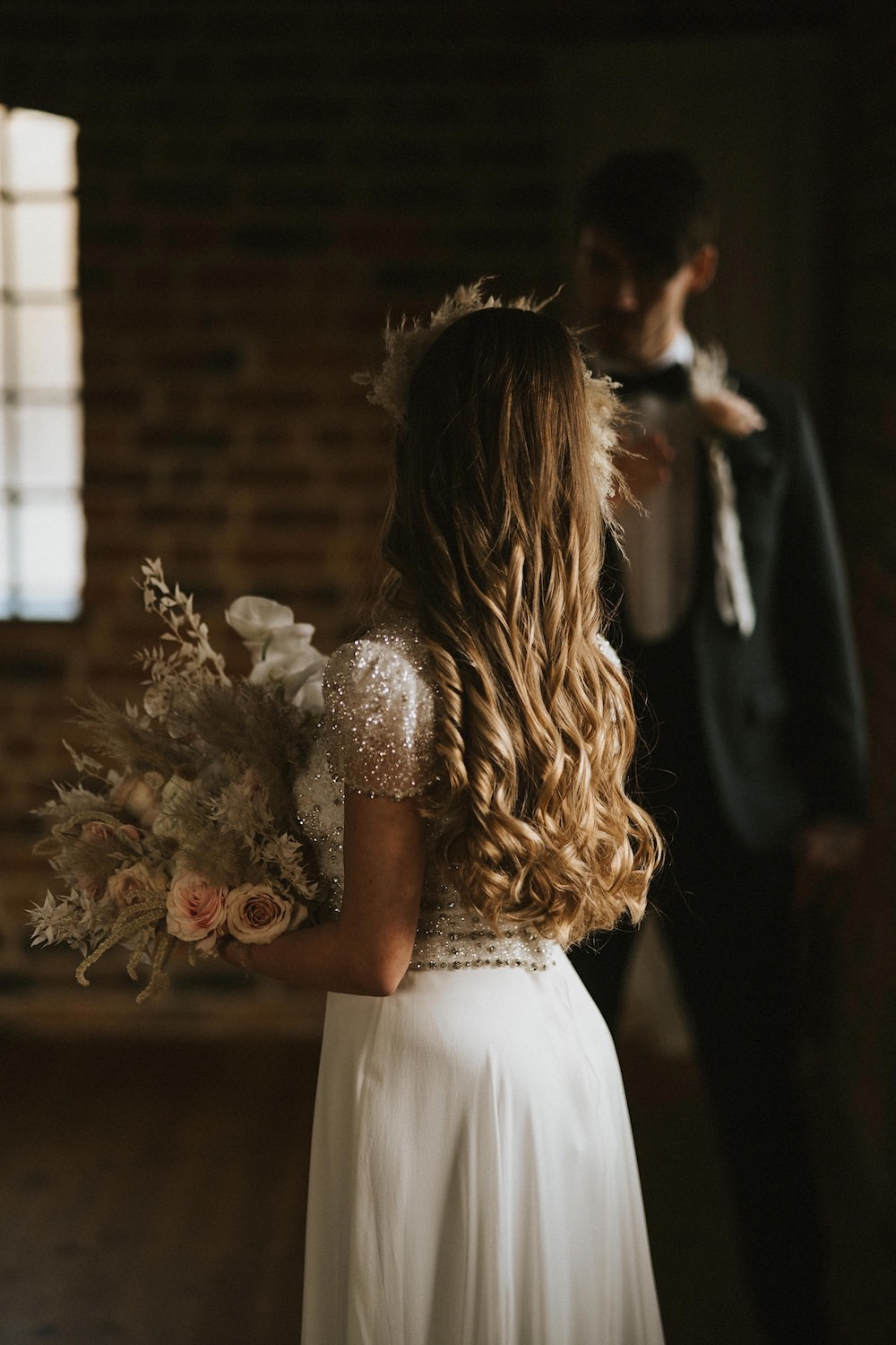 Bride Bridal Hair Style Long Waves Ballet Wedding Ideas Henry Lowther Photographer
