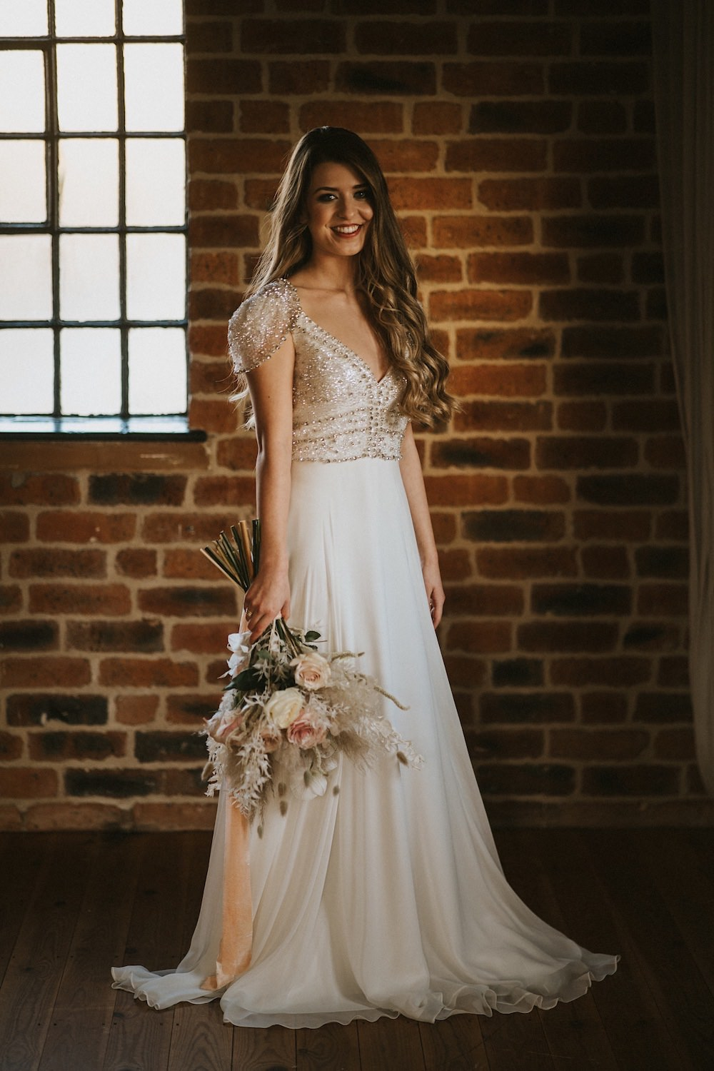 Dress Gown Bride Bridal Cap Sleeves Ballet Wedding Ideas Henry Lowther Photographer