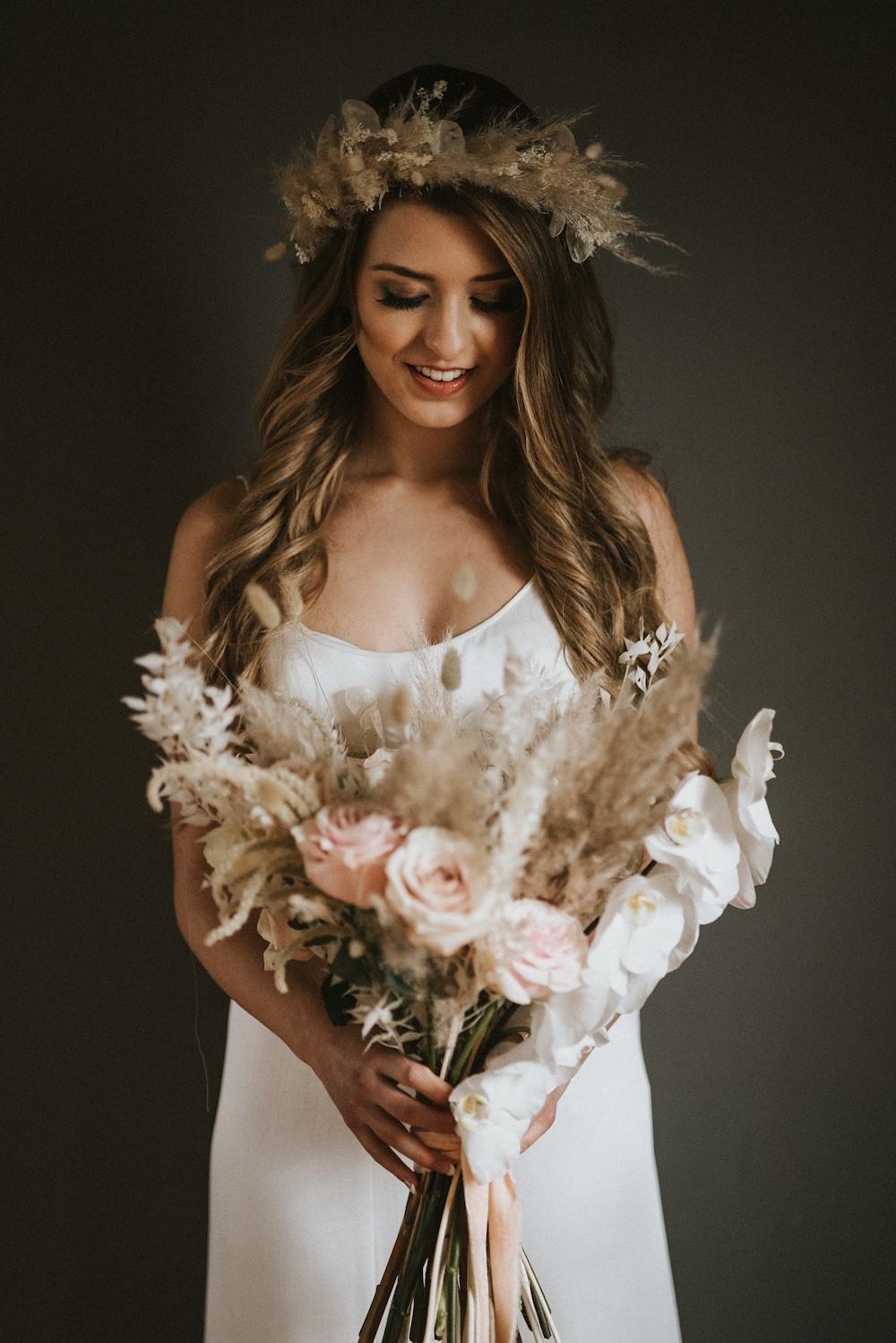 Bride Bridal Flower Crown Ballet Wedding Ideas Henry Lowther Photographer