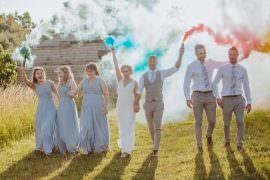 Crafty Wedding Sam Bennett Photography Smoke Bomb Photos Portrait