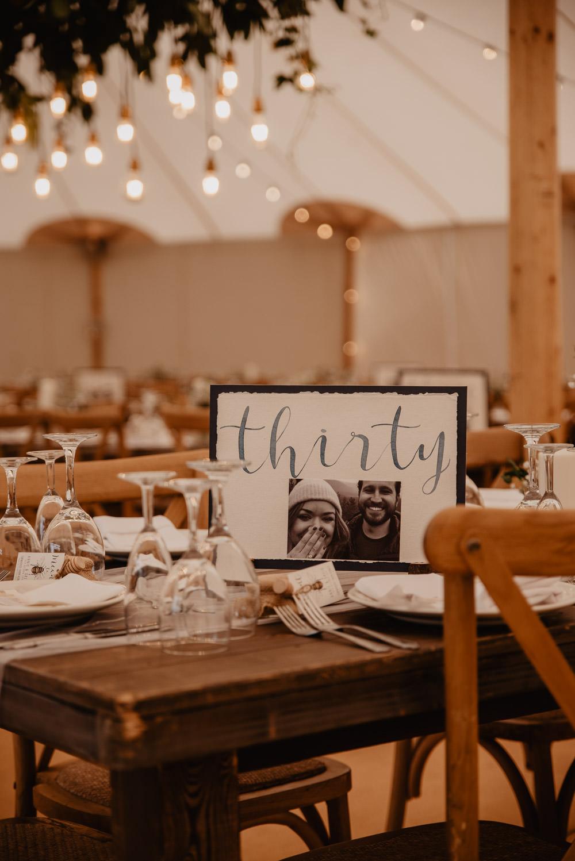 Table Number Name Family Farm Wedding Janine Kirkwood Photography