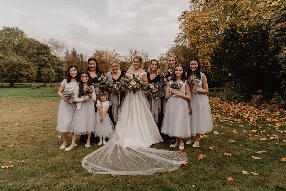 Bridesmaids Bridesmaid Dress Dresses Blue Flower Girls Family Farm Wedding Janine Kirkwood Photography