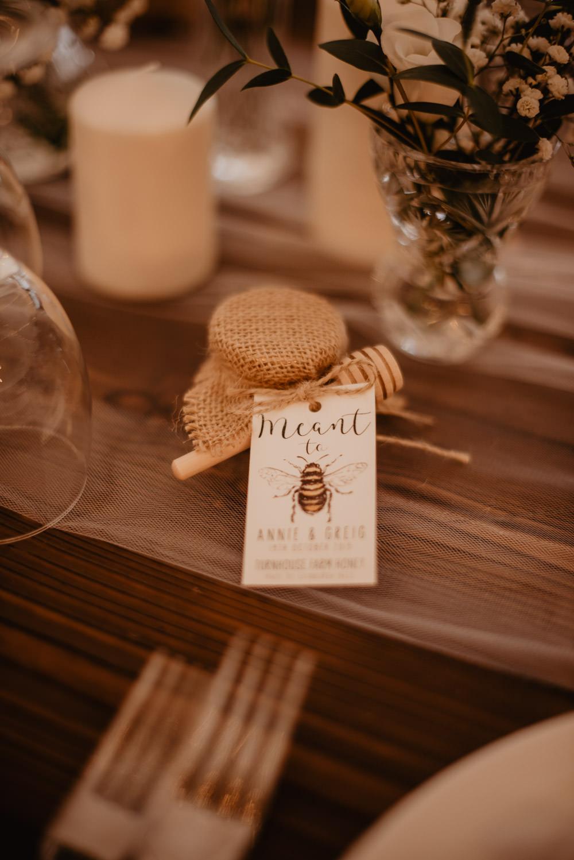 Honey Favours Family Farm Wedding Janine Kirkwood Photography