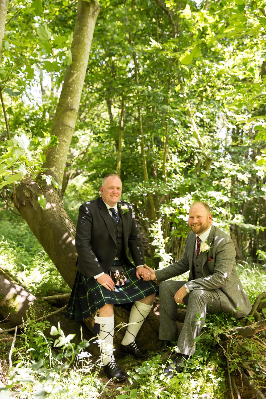 Groom Tweed Suit Kilt Fullerton Estate Wedding Hannah Larkin Photography