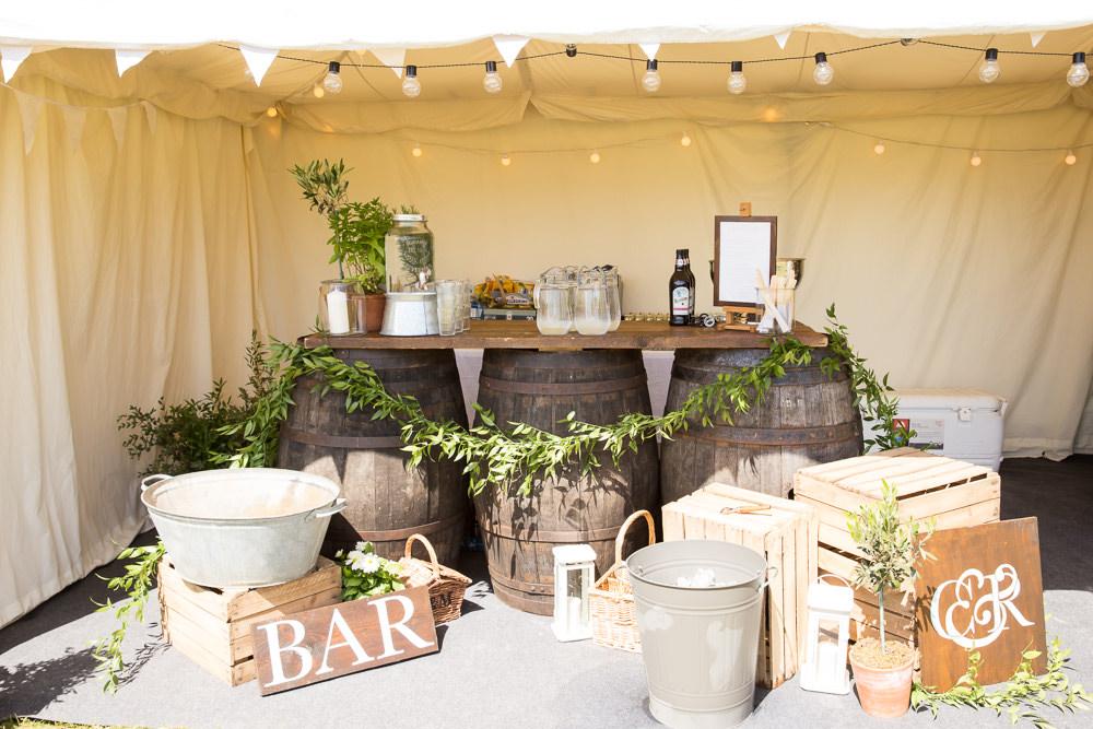 Wooden Bar Decor Fullerton Estate Wedding Hannah Larkin Photography