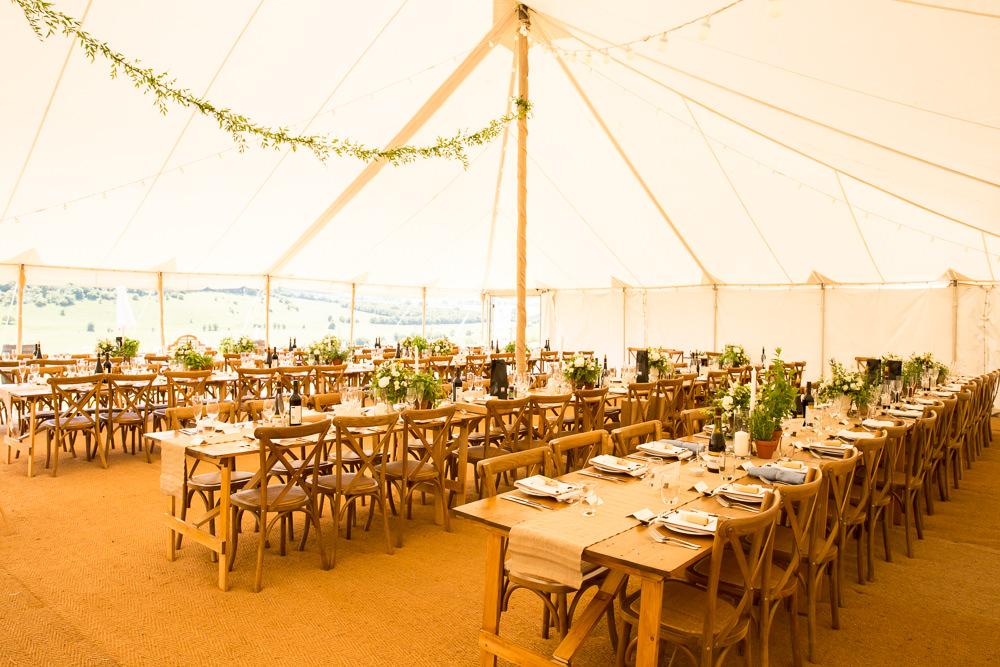Pole Tent Marquee Greenery Foliage Fullerton Estate Wedding Hannah Larkin Photography